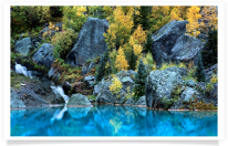 Cascade Boulders Fall Color