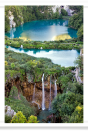 Plitvice Lakes Waterfall Vertical