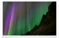 Aurora Heavens and Mountain