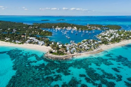 Hopetown and Elbow Cay Aerial, Abaco, Bahamas
