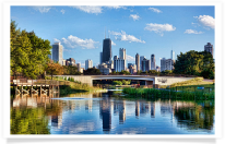 Lincoln Park Lagoon and Skyline