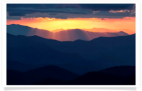 Cowee Mountains Overlook Sunset