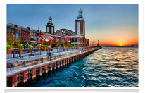 Navy Pier Lake Michigan Sunrise