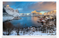 Reine Sunset Overlook