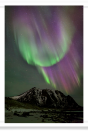Aurora Mountain Curtain Flare