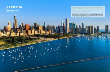 Monroe Harbor Aerial, Chicago, IL. Published in September 2017 issue of Drone Magazine UK.