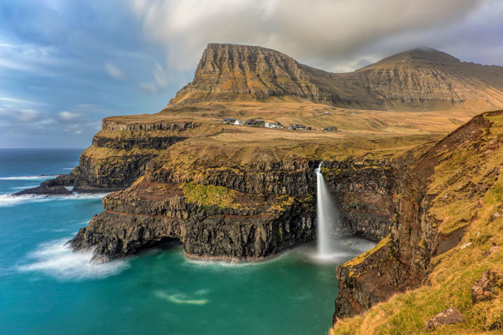 Mulafossur Waterfall, Faroe Islands