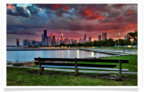 North Ave Skyline & Red Sky