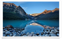 Lake Louise Dawn Rocks