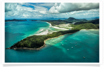 View of Whitsunday Island and Whitehaven Beach