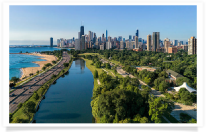 Chicago South Lagoon Lake Shore Drive
