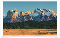 Sunrise and Grasslands Torres del Paine