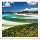 Whitehaven Beach and Cove from Hill Inlet
