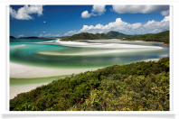 View from Hill Inlet of Whitehaven Beach Area