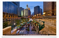 Riverside Dining along Chicago River