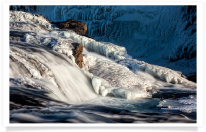 Icy river near Gullfoss