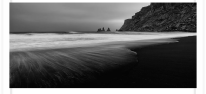 Vik Beach black and white