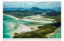 Aerial Whitsunday Island and Whitehaven Beach